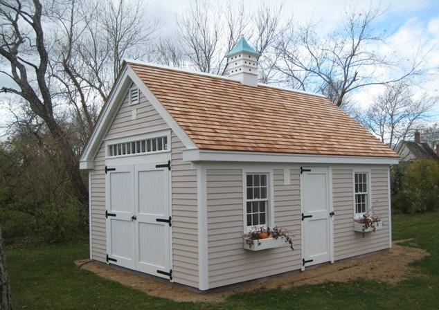 Finishing your building inside and out post and beam Cape cod shed plans